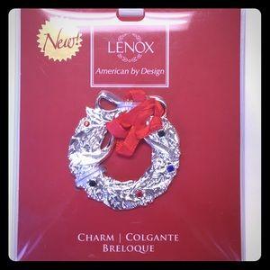 New Lenox ornament charm jeweled wreath